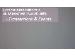 Revenue & Receipts Cycle