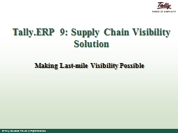 Tally.ERP PowerPoint Presentation, PPT - DocSlides