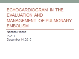 Echocardiogram in the Evaluation and Management of Pulmonar