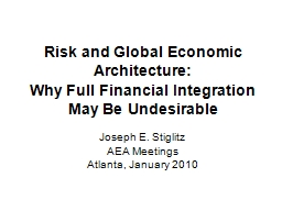 Risk and Global Economic Architecture: PowerPoint PPT Presentation