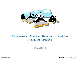 Adjustments, Financial Statements, and the Quality of Earni PowerPoint PPT Presentation