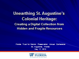 Unearthing St. Augustine's