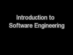 Introduction to Software Engineering PowerPoint PPT Presentation