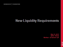 New Liquidity Requirements PowerPoint PPT Presentation