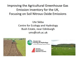 Improving the Agricultural Greenhouse Gas Emission Inventor PowerPoint PPT Presentation
