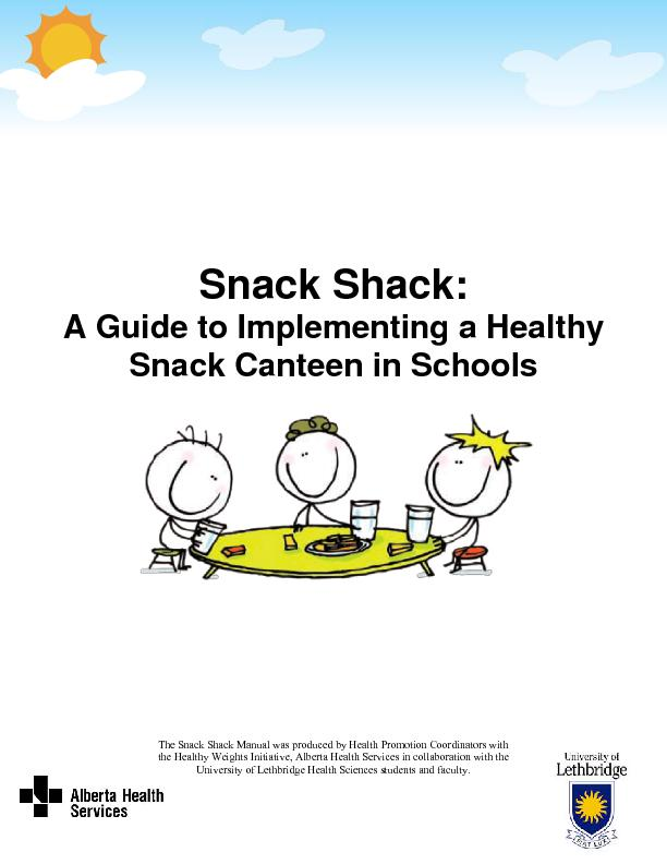 A Guide to Implementing a Healthy Snack Canteen in Schools