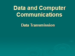 Data and Computer Communications