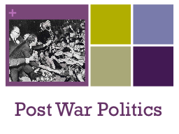 Post War Politics PowerPoint PPT Presentation