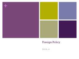 Foreign Policy PowerPoint PPT Presentation