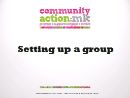 Setting up a group
