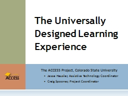 The ACCESS Project, Colorado State University
