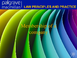 Membership of a company PowerPoint PPT Presentation