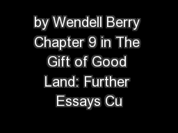 Wendell berry essay orion