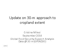 Update on 30-m approach to cropland extent PowerPoint PPT Presentation