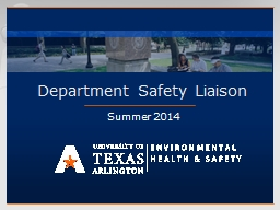 Department Safety Liaison PowerPoint PPT Presentation