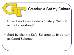Creating a Safety Culture PowerPoint PPT Presentation