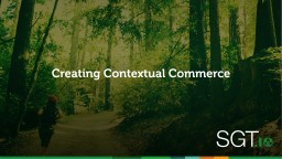 Creating Contextual Commerce
