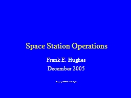 Space Station Operations PowerPoint PPT Presentation