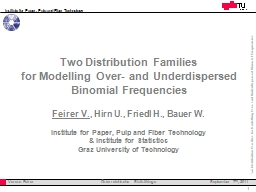 Two Distribution Families PowerPoint PPT Presentation