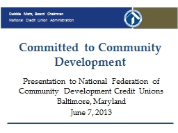 Committed to Community Development PowerPoint PPT Presentation