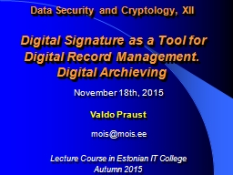 Data Security and Cryptology, XII