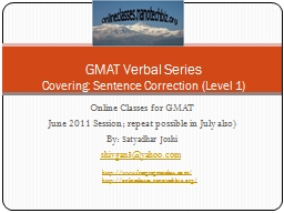 Online Classes for GMAT