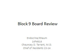 Block 9 Board Review PowerPoint PPT Presentation