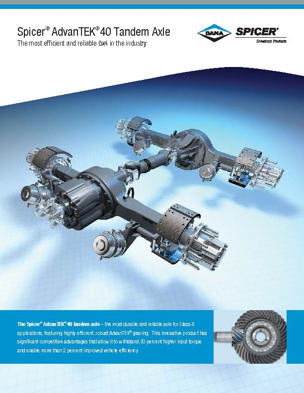AdvanTEK 40 tandem axle – the most durable and reliable axle for