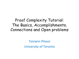 Proof Complexity Tutorial