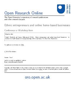 Open Research Online The Open Universitys repository of research publications an PDF document - DocSlides