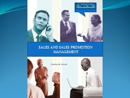 SALES AND SALES PROMOTION MANAGEMENT