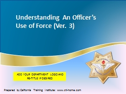 Understanding  An Officer's Use of PowerPoint PPT Presentation