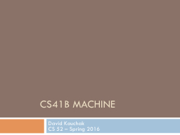 CS41B machine
