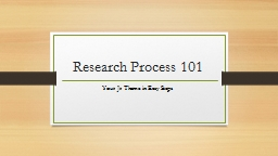 Research Process 101