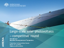 Large-scale solar photovoltaics – competitive