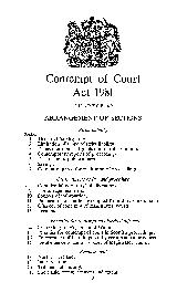 Contempt of Court Act   CHAPTER  ARRANGEMENT OF SECTIONS Strict liability Section