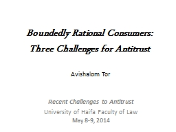 Boundedly Rational Consumers:
