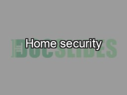 Home security PowerPoint PPT Presentation
