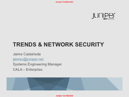 TRENDS & NETWORK SECURITY