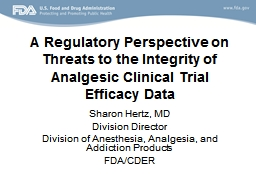 A R egulatory Perspective on Threats