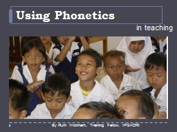 Using Phonetics PowerPoint PPT Presentation