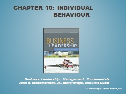 Chapter 10: individual