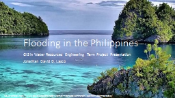 Flooding in the Philippines PowerPoint PPT Presentation