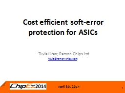 Cost efficient soft-error protection for ASICs