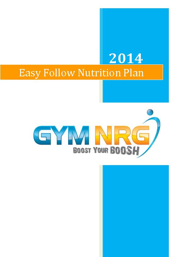 Easy Follow Nutrition Plan PowerPoint PPT Presentation