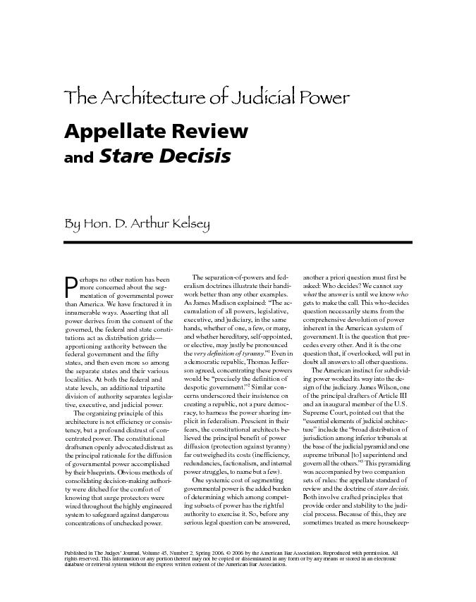 Published in The Judges