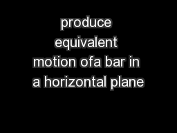 produce equivalent motion ofa bar in a horizontal plane