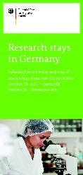 Research stays in GermanyInformation on entry and stay of researchers