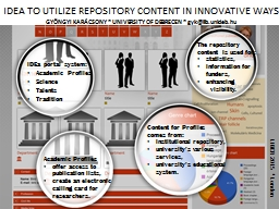 IDEA TO UTILIZE REPOSITORY CONTENT IN INNOVATIVE WAYS