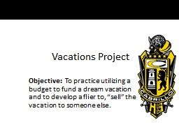 Vacations Project